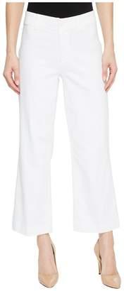 Paige Clean Front Nellie Culotte in Crisp White Women's Jeans