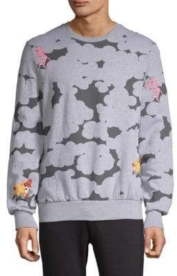 Eleven Paris Abstract Pink Panther Graphic Sweatshirt