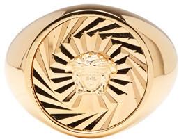 Versace Gold Circular Medusa Ring $325 thestylecure.com