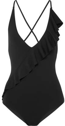 Marysia Swim Palisades Ruffled Swimsuit - Black