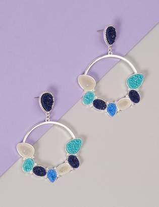 Faux Druzy Circle Drop Earrings