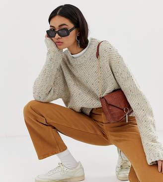 Weekday flecked knit jumper in beige