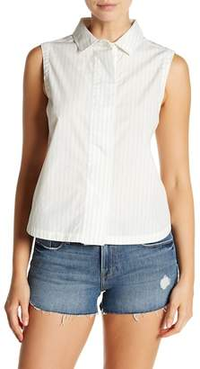 Frame Sleeveless Poplin Top