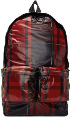Off-White Off White Red Check Backpack