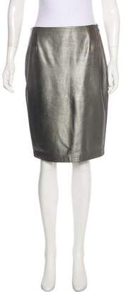 Ralph Lauren Metallic Knee-Length Skirt