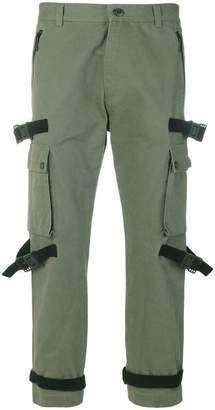 Marcelo Burlon County of Milan tab detail combat trousers