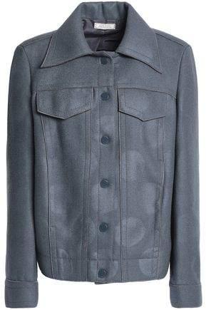 Coated Wool-Blend Jacket