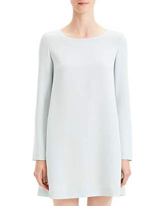 Theory Women's Long Sleeve Paneled Shift Dress