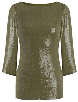 JOANNA HOPE Sequin Top