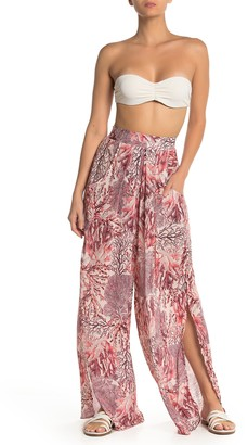 Maaji Passion Reef Print Palazzo Cover-Up Pants