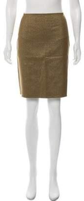 Celine Céline Glitter Knee-Length Skirt Gold Céline Glitter Knee-Length Skirt