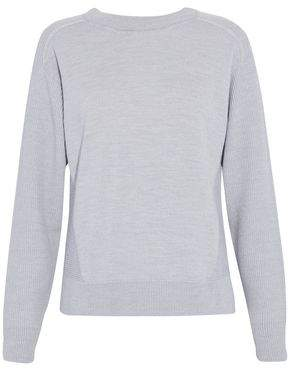 Belstaff Ribbed-Paneled Wool Silk And Cashmere-Blend Sweater