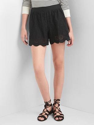 Shirred eyelet shorts $49.95 thestylecure.com