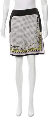 ICB Printed Silk Skirt