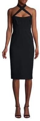 Jill Stuart Jill by Cross Halter Sheath Dress