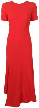 Victoria Beckham V-back asymmetric midi dress