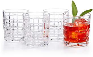 Godinger Radius Set of 4 Double Old Fashioned Glasses