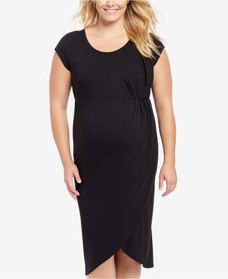 Motherhood Maternity Plus Size Cap-Sleeve Dress