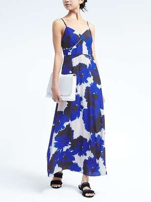 Floral Paneled Maxi Dress $158 thestylecure.com