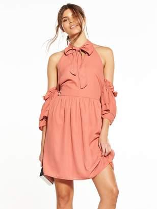 Fashion Union Mick Cold Shoulder Dress