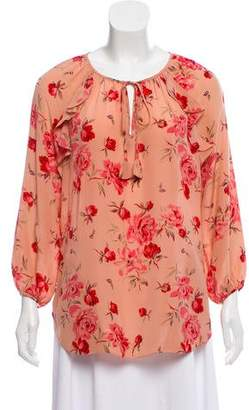 Pink floral blouse shopstyle pre owned at therealreal rebecca taylor silk floral print blouse mightylinksfo