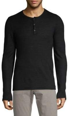 John Varvatos Textured Long-Sleeve Henley