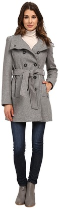 DKNY Double Breasted Stand Collar Trench w/ Zip Pockets 13439-Y5 $288 thestylecure.com