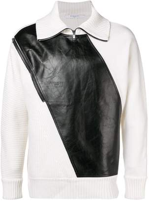 Givenchy panelled zip sweater