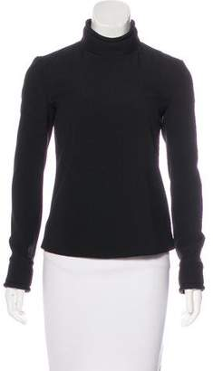 Brandon Maxwell Long Sleeve Mock Neck Top w/ Tags