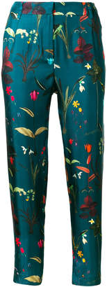 AILANTO floral cropped trousers