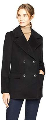 HAVEN OUTERWEAR Women's Double Breasted Wool Peacoat