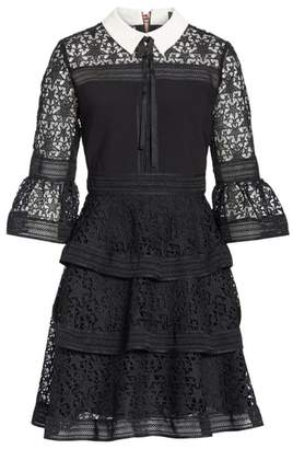 Ted Baker Star Lace Ruffle Dress