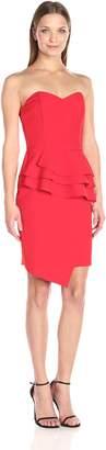 Adelyn Rae Women's Strapless Ruffle Waist Dress