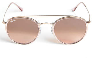 Ray-Ban Bronze Round Double Bridge Sunglasses