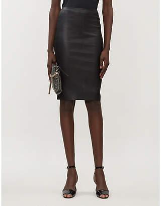Jitrois Chantal high-waist leather pencil skirt