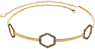 Sterling Forever 14K Plated Cz Choker Necklace