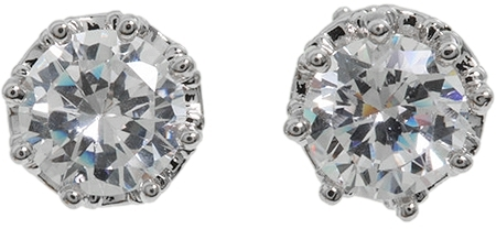 Juicy Couture Princess CZ Stud Earrings