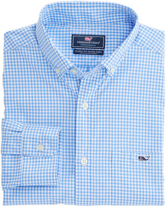 Vineyard Vines Grand Cay Gingham Performance Nylon Classic Tucker Shirt