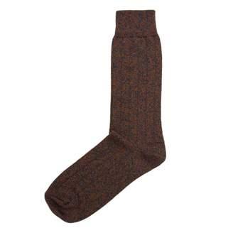 40 Colori - Rust Melange Thick Ribbed Organic Cotton Socks