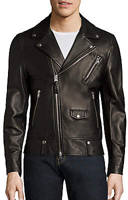 Mackage Men's Fenton Leather Moto Jacket