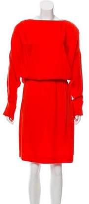L'Agence Long Sleeve Knee-Length Dress
