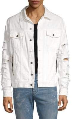 Balmain Distressed Denim Jacket