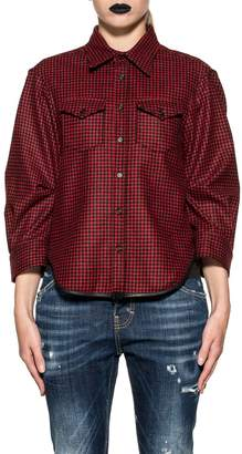 DSQUARED2 Red/black Checked Wool Shirt