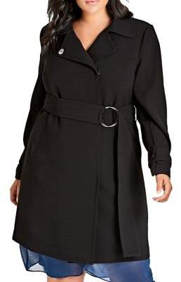 City Chic Plus Simply Wrap Trench Coat