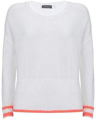 Mint Velvet Ivory & Neon Orange Knit