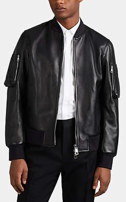 Neil Barrett Men's Bolt-Detailed Leather Bomber Jacket - Black