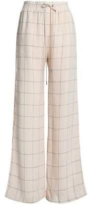 Zimmermann Checked Linen Wide-Leg Pants