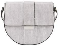 BOSS Hugo Italian-leather saddle bag signature palladium closure One Size Open White