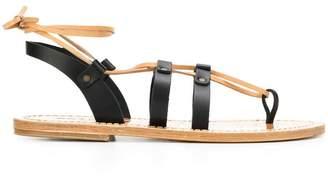Solange Sandals multi-strap ankle tie sandals