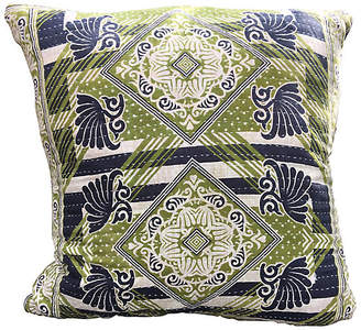 One Kings Lane Vintage Abstract Kantha Pillow - BETH AYER DESIGN/OKL